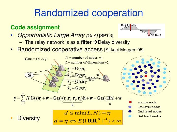 Randomized cooperation