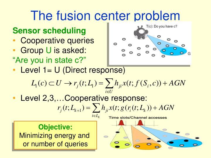 The fusion center problem