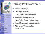 february 1994 powerpoint 4 0