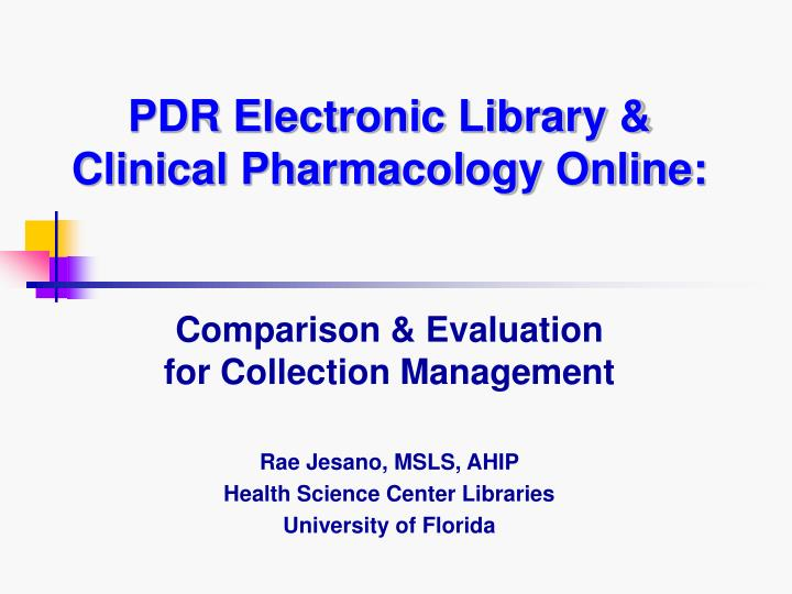 pdr electronic library clinical pharmacology online n.