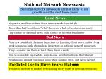 national network newscasts