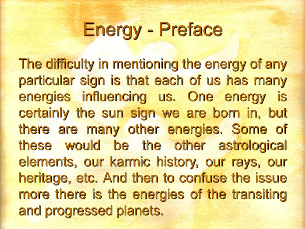 Energy - Preface