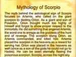 mythology of scorpio