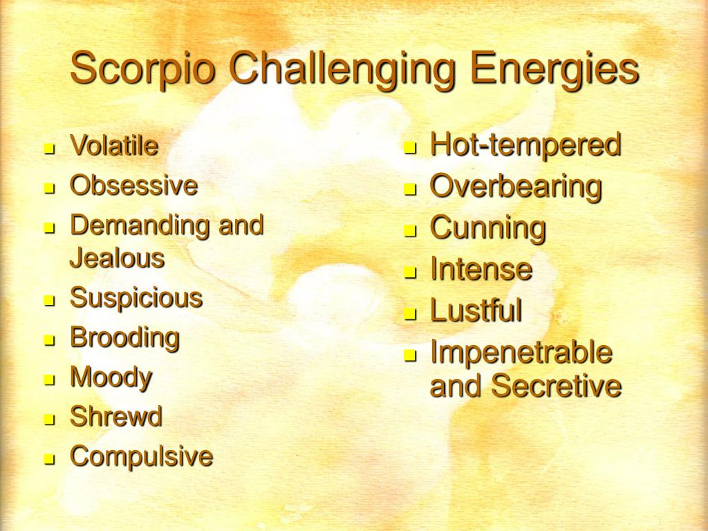 Scorpio Challenging Energies