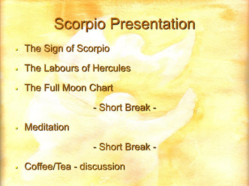 Scorpio Presentation
