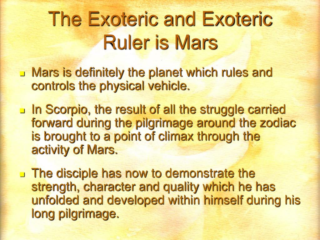 The Exoteric and Exoteric
