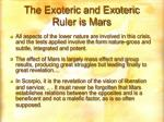 the exoteric and exoteric ruler is mars24