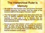 the hierarchical ruler is mercury
