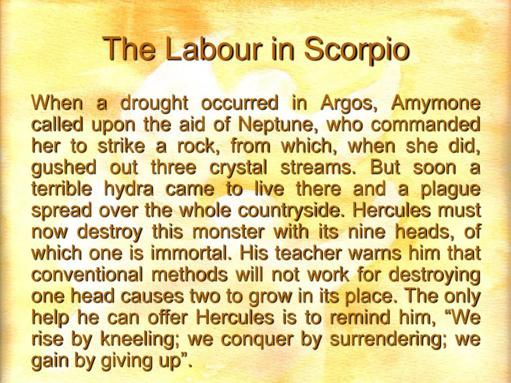 The Labour in Scorpio