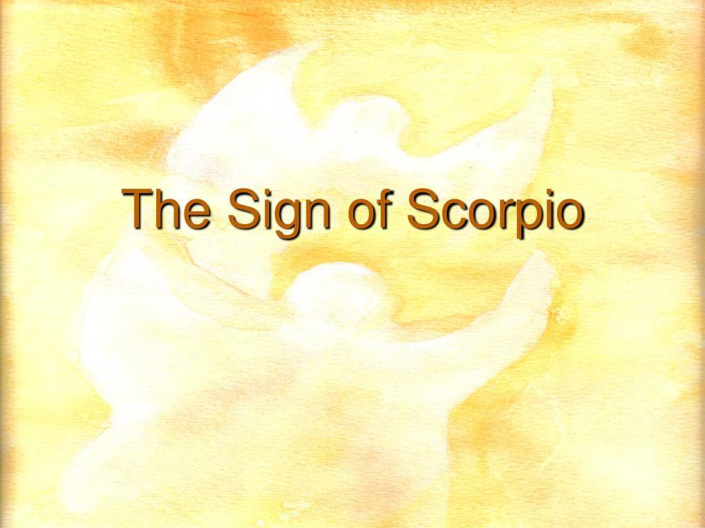The Sign of Scorpio
