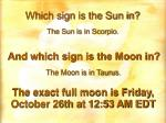 which sign is the sun in