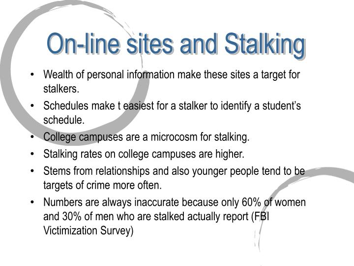 On-line sites and Stalking