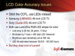 lcd color accuracy issues