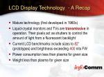 lcd display technology a recap