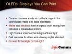 oleds displays you can print