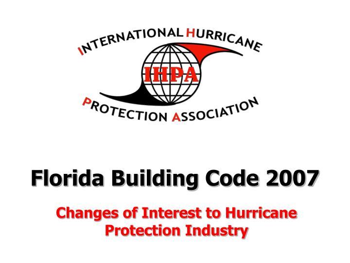 florida building code 2007 n.