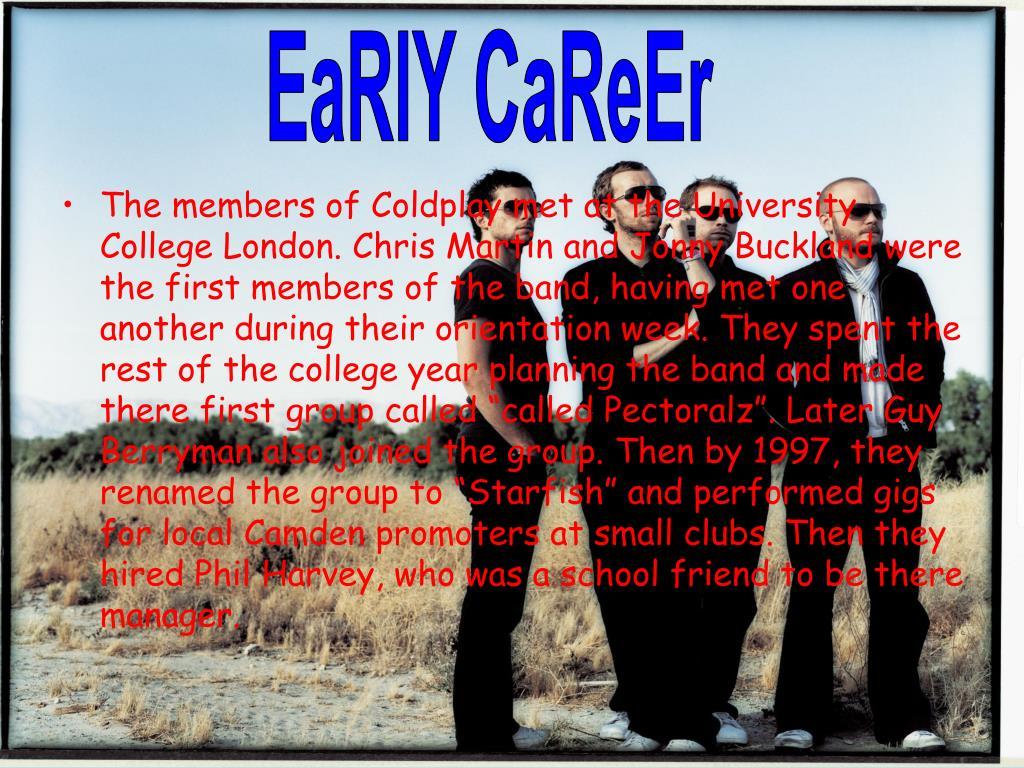 EaRlY CaReEr