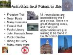 activities and places to see