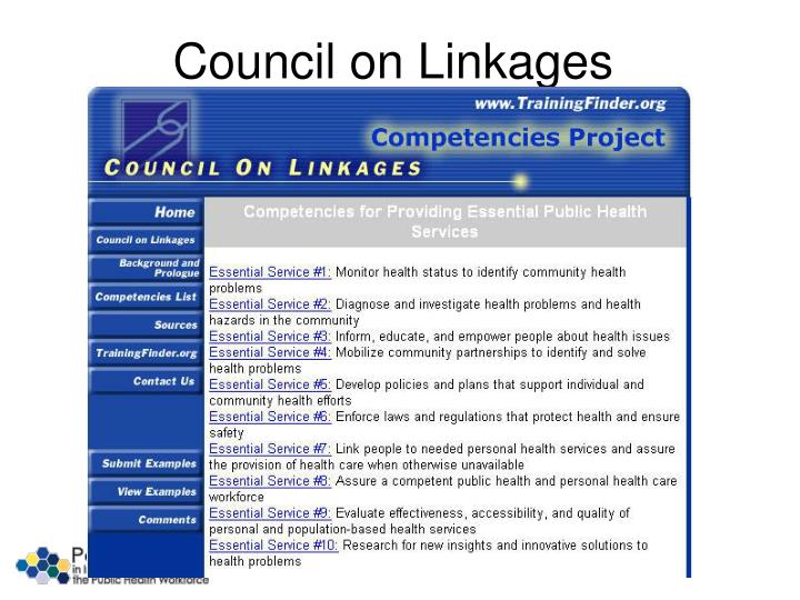 Council on Linkages