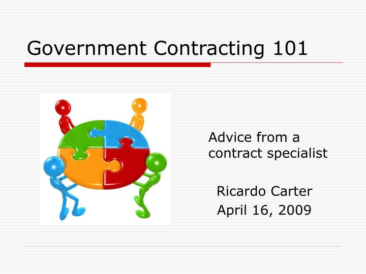 government contracting 101 n.
