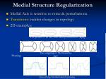 medial structure regularization