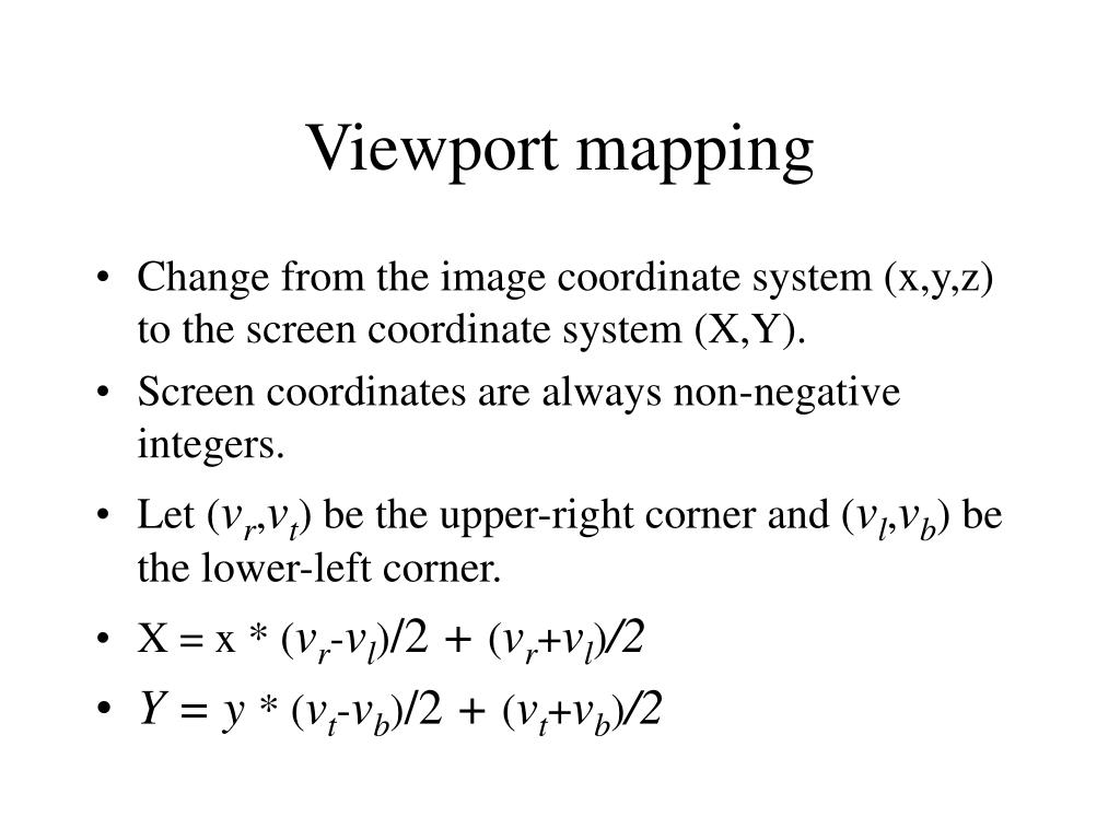 Viewport mapping