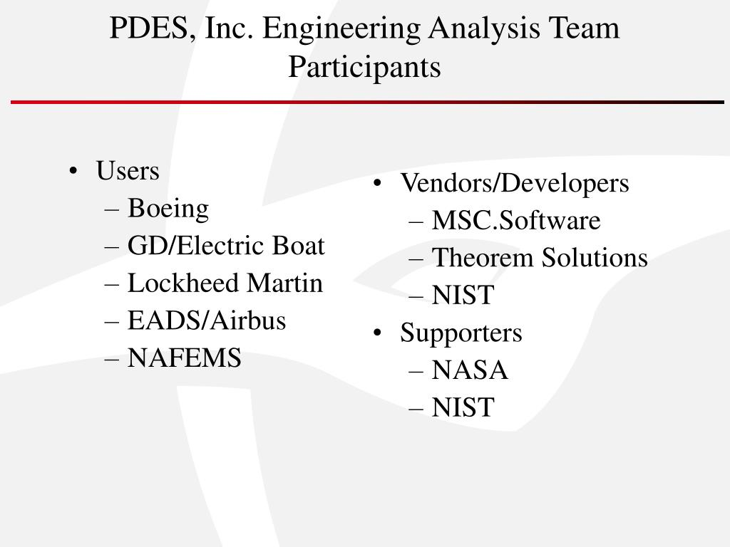 PDES, Inc. Engineering Analysis Team
