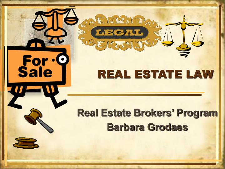 real estate law n.