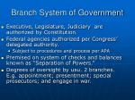 branch system of government