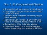nov 6 06 congressional election