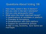 questions about voting 06