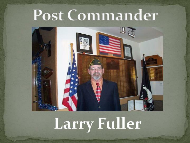 Post commander