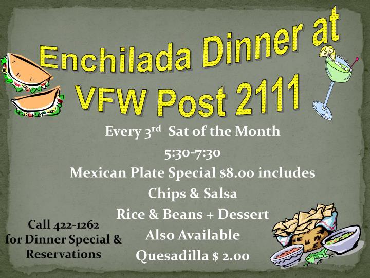 Enchilada Dinner at