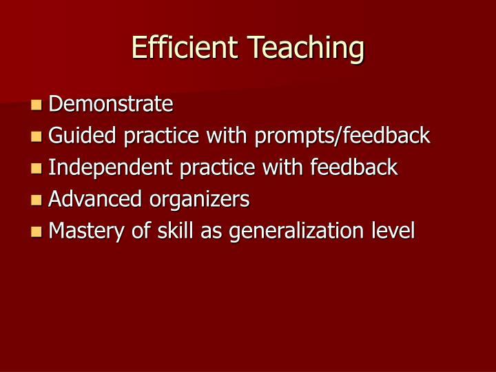 Efficient Teaching