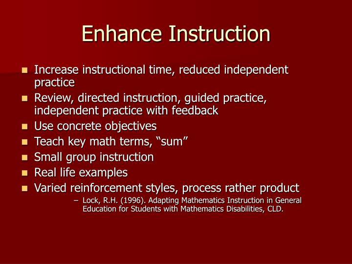 Enhance Instruction