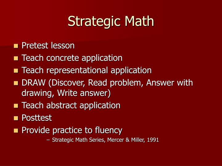 Strategic Math