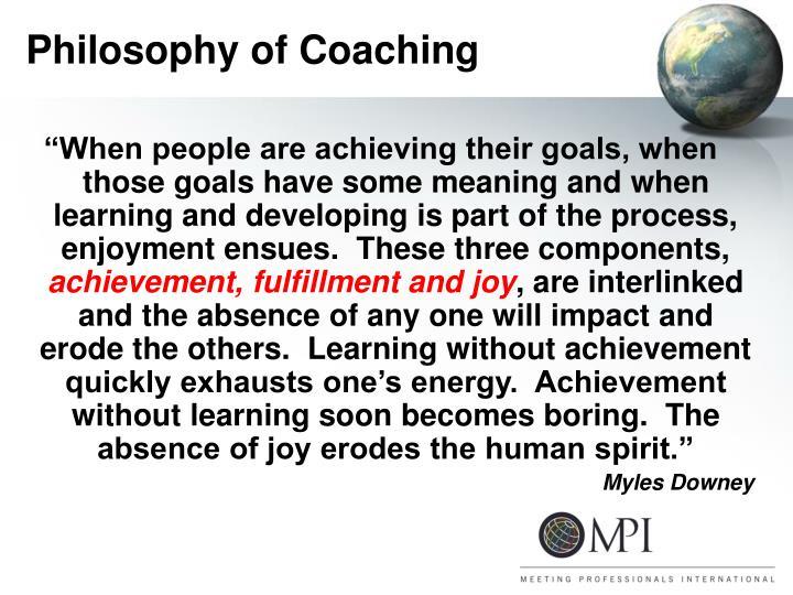 Philosophy of Coaching