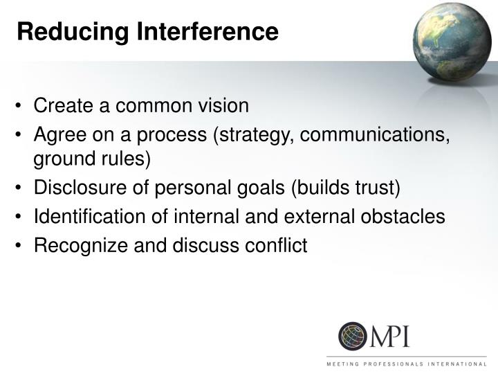 Reducing Interference
