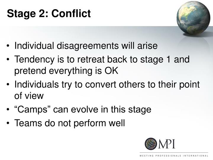 Stage 2: Conflict