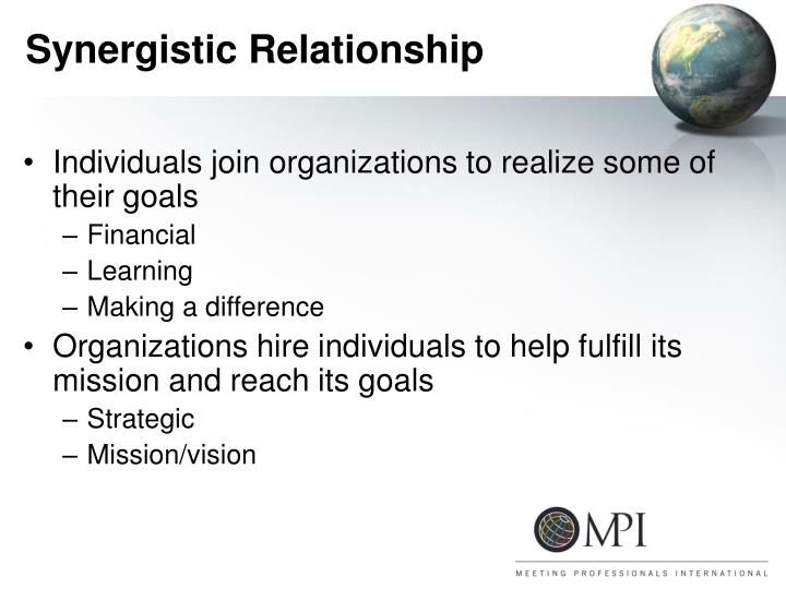 Synergistic relationship