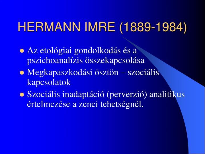 HERMANN IMRE (1889-1984)