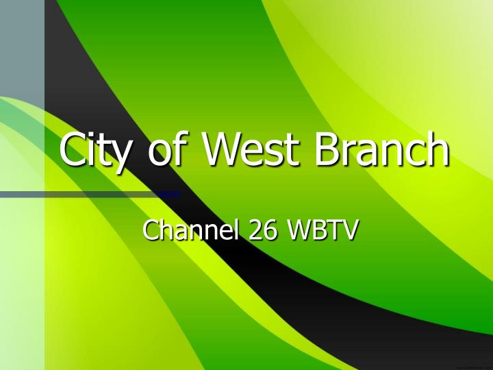 city of west branch n.