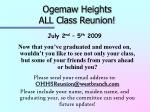 ogemaw heights all class reunion