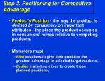 step 3 positioning for competitive advantage