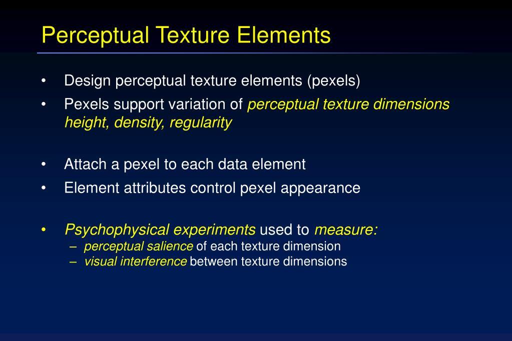 Perceptual Texture Elements