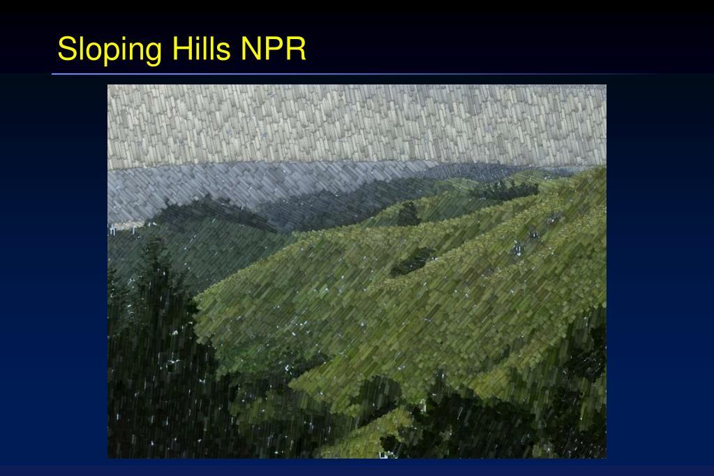 Sloping Hills NPR