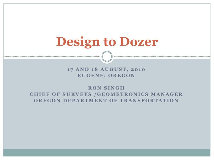 design to dozer n.