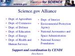 science gov alliance