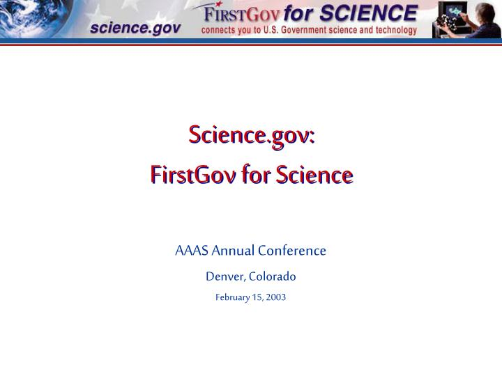 science gov firstgov for science n.