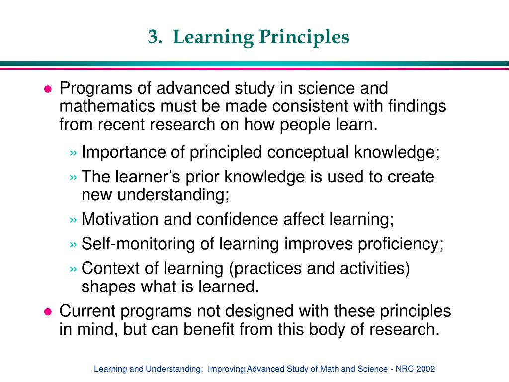 3.  Learning Principles